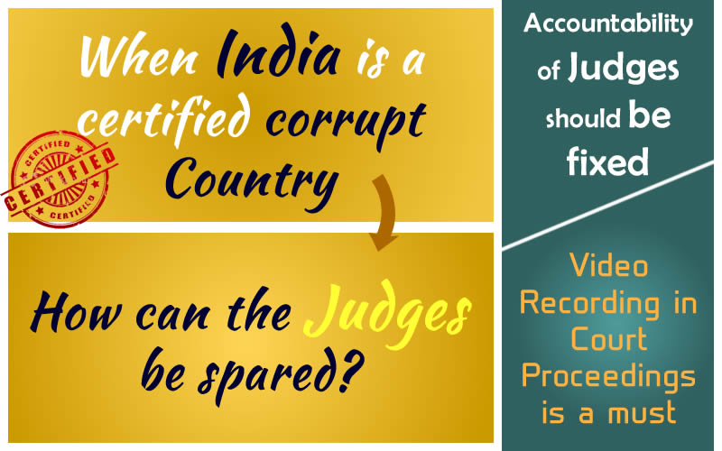 """Protest against """"Corruption in Judiciary"""" in India tantamounts to Sedition"""